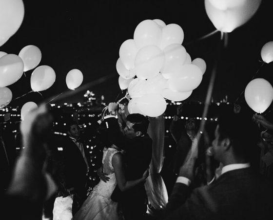 Balionai su LED