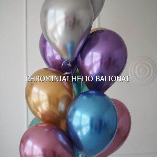 Chrominiai helio balionai