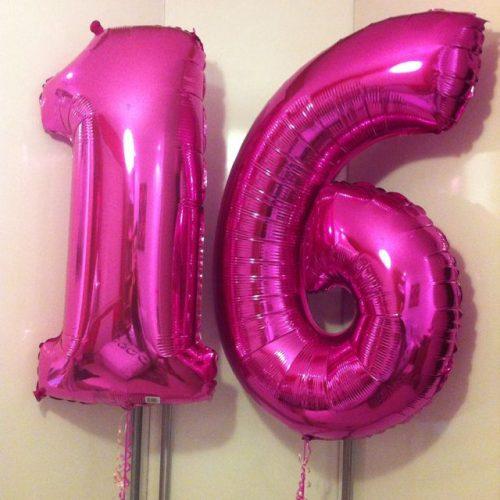 Foliniai balionai skaičiai