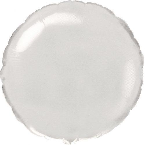 Baltas apvalus folinis