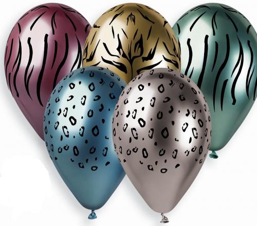 Safari chrominiai helio balionai
