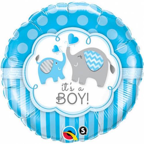 Teminis folinis balionas Its a boy drambliukai