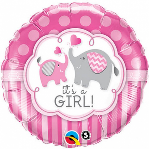 Teminis folinis balionas Its a girl drambliukai