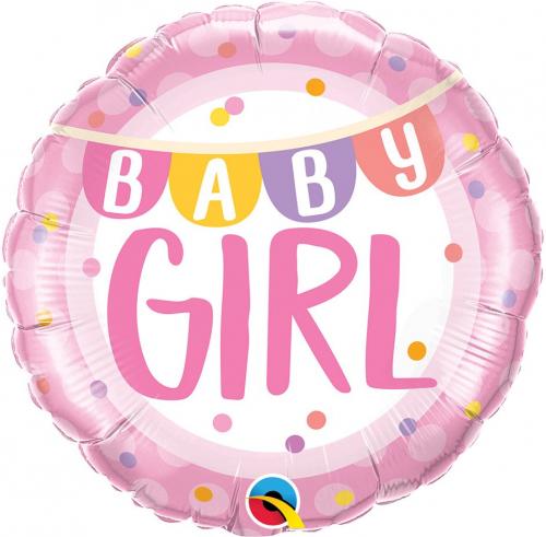 Teminis folinis balionas BABY GIRL